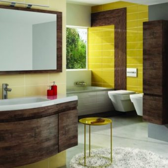 Ciekawie zaprojektowana łazienka